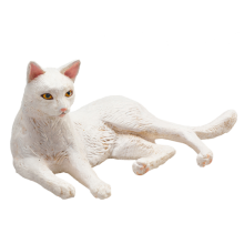 Mojo Animal Planet Kočka bílá ležící
