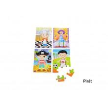 Dřevěné puzzle pro kluky 4x12 ks