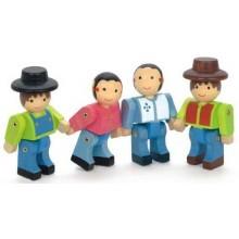 Jeujura 4 dřevěné pohyblivé figury stavebnic