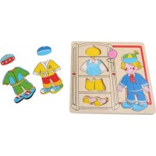 Small Foot Puzzle chlapec se obléká