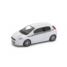 Welly - Fiat Grande Punto model 1:43 bílý sport