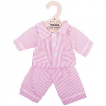 Bigjigs Toys růžové pyžamo pro panenku 35 cm