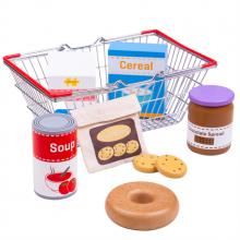 Bigjigs Toys Nákupní košík s potravinami