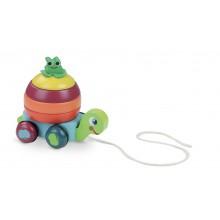 Vilac Dřevěná tahací hračka Skládací želva