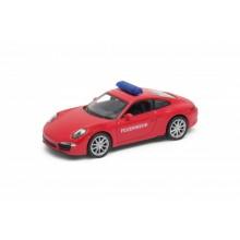 Welly - Porsche 911 Carrera S model 1:34 policie červené