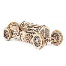 Ugears 3D dřevěné mechanické puzzle Auto U-9 Grand prix