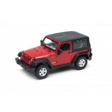 Welly Jeep Wrangler (2007) model 1:24 červený