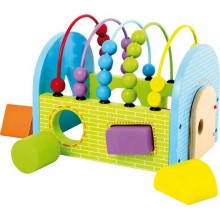 Small Foot Dřevěná motorická hračka kostka Activity