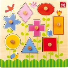 Small Foot Dřevěná hračka puzzle tvary
