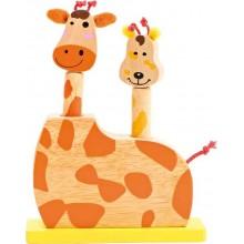 Dětská dřevěná hra - Skákací Žirafí hlavy