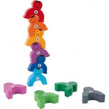 Dřevěná motorická hra - Siláci s čísly