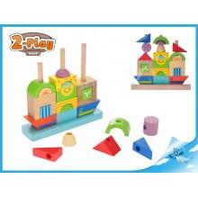 Dřevěná loďka s kostkami
