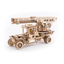 Ugears Dřevěná stavebnice 3D mechanické Puzzle UGM 11 s požárním žebříkem