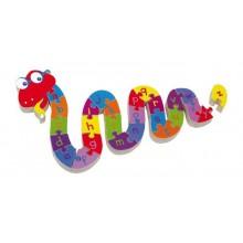 Dřevěné hračky - Puzzle Hadí abeceda