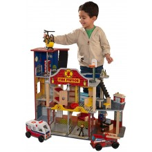 Kidkraft Dřevěný deluxe set hasiči