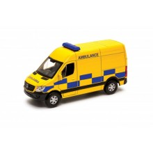 Welly Mercedes-Benz Sprinter Panel Van model 1:34 žlutá ambulance