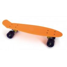 Small Foot Skateboard oranžový neon