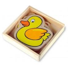 Dřevěné hračky - Puzzle v krabičce Farma