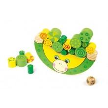 Dřevěná motorická hra - Balancující žába