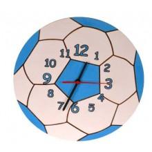Dětské dřevěné hodiny - Míč modrý