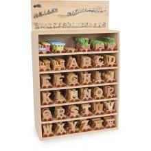 Dřevěný vláček vláčkodráhy abeceda písmeno A