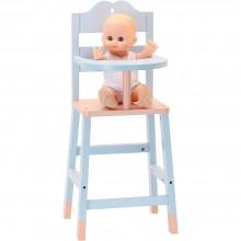 Petitcollin Dřevěná jídelní židlička pro panenky