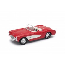Welly - Chevrolet Corvette ('57) model 1:34 červený