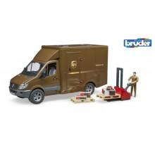 Bruder MB SPRINTER UPS s řidičem a příslušenstvím