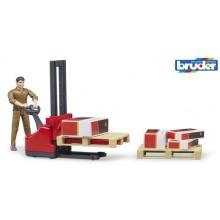 Bruder Set vysokozdvižný vozík s figurkou