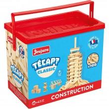 Jeujura Dřevěná stavebnice TECAP 100 dílků