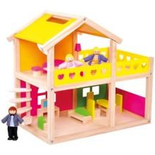 Bino Dřevěný domeček pro panenky