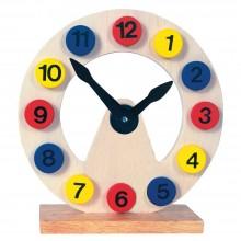 Bino Dřevěná dekorace hodiny na stojánku
