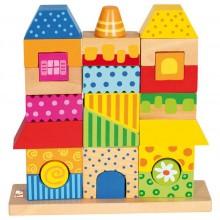 Bino Dřevěné hračky skládanka domeček