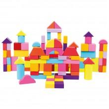 Bino Kostky v kyblíku 100 ks nové barvy