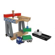 Dřevěné hračky pro kluky - Kontejnerový terminál
