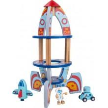 Small Foot Dřevěné hračky pro kluky vesmírná raketa