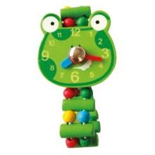 Bino Dřevěné hodinky Žába