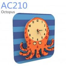 RoboTime 3D puzzle hodiny se strojkem chobotnice