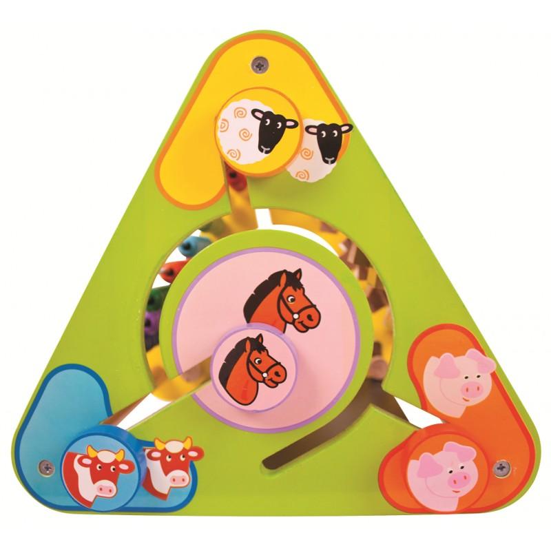 Bigjigs Baby Aktivní trojúhelník s angličtinou