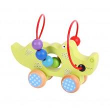 Bigjigs Toys motorický labyrint na kolečkách - krokodýl