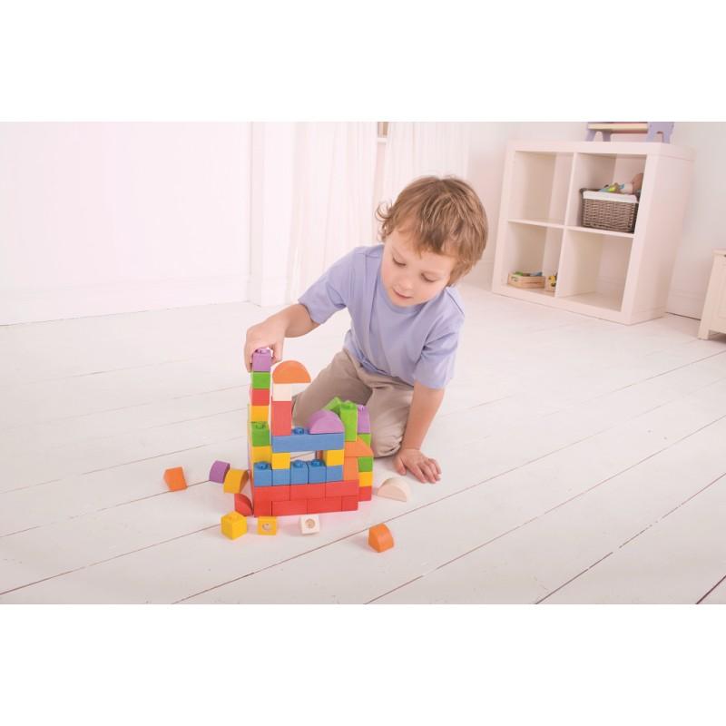 Bigjigs Baby Dřevěné Spojkostky - Střední set