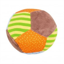 Bigjigs Baby Textilní Chrastítko balónek opička Cheeky