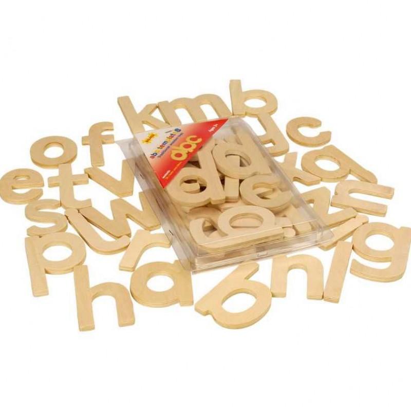 Bigjigs Toys Dřevěná abeceda malá písmena