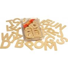 Dřevěná tiskací abeceda- velká písmena