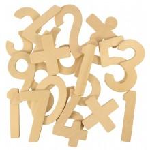 Bigjigs Toys Dřevěné číslice se znaménky