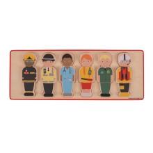 Bigjigs Toys Vkládací puzzle záchranářský tým