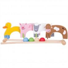 Bigjigs Toys dřevěné hry - kroket se zvířátky farma