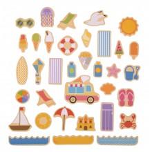 Bigjigs Toys Magnetky prázdniny u moře