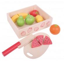 Bigjigs Toys- Dřevěné hračky - Ovoce krájené