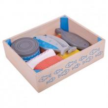 Bigjigs Toys Dřevěné mořské plody v krabičce